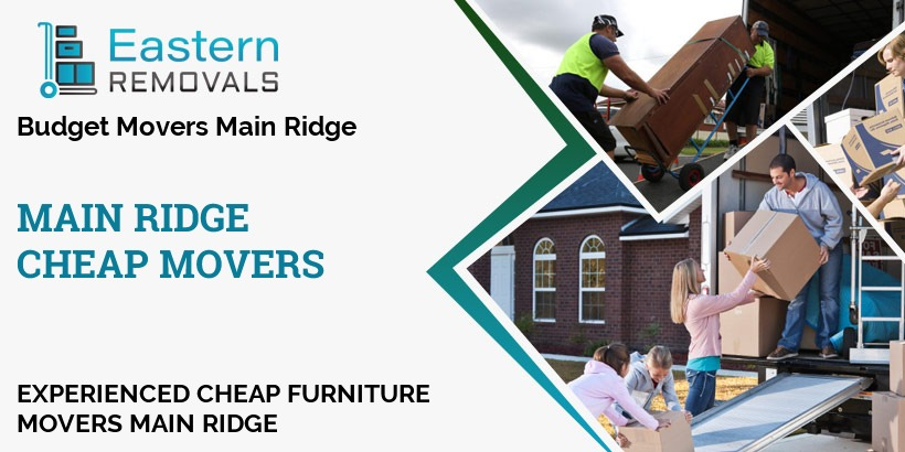 Cheap Movers Main Ridge